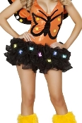 J Valentine Light Up Tutu or Petticoat with rainbow colored Butterfly lights