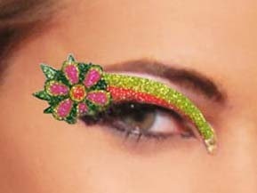 Daisy Flower Power Eyes self adhesive body art from Xotic Eyes